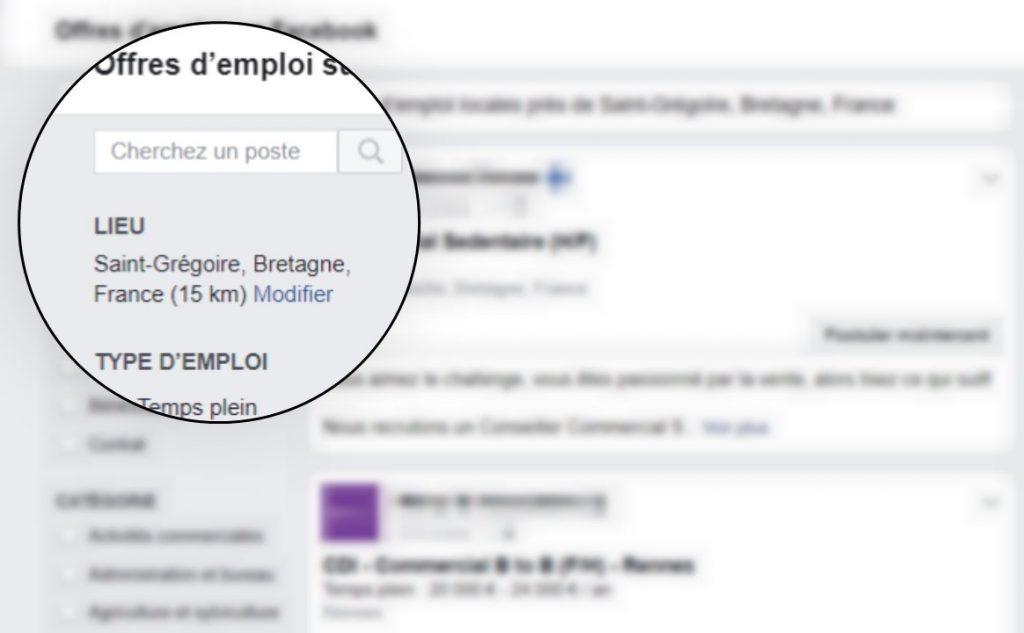 La plateforme Facebook Jobs