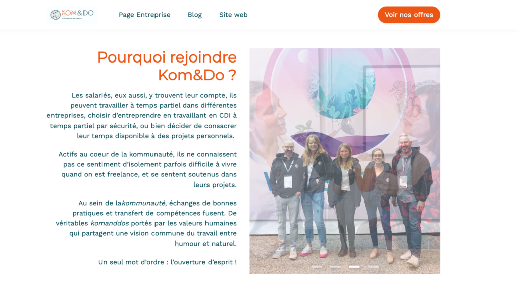 Le site carrière de Kom and Do