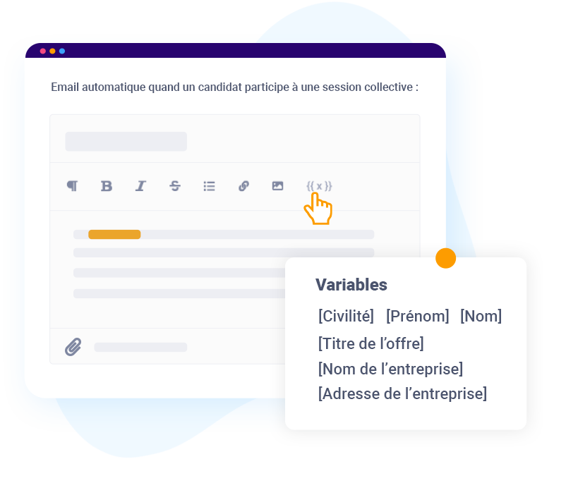 email automatique recrutement collectif