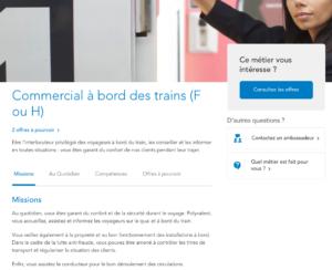Fiche métier SNCF