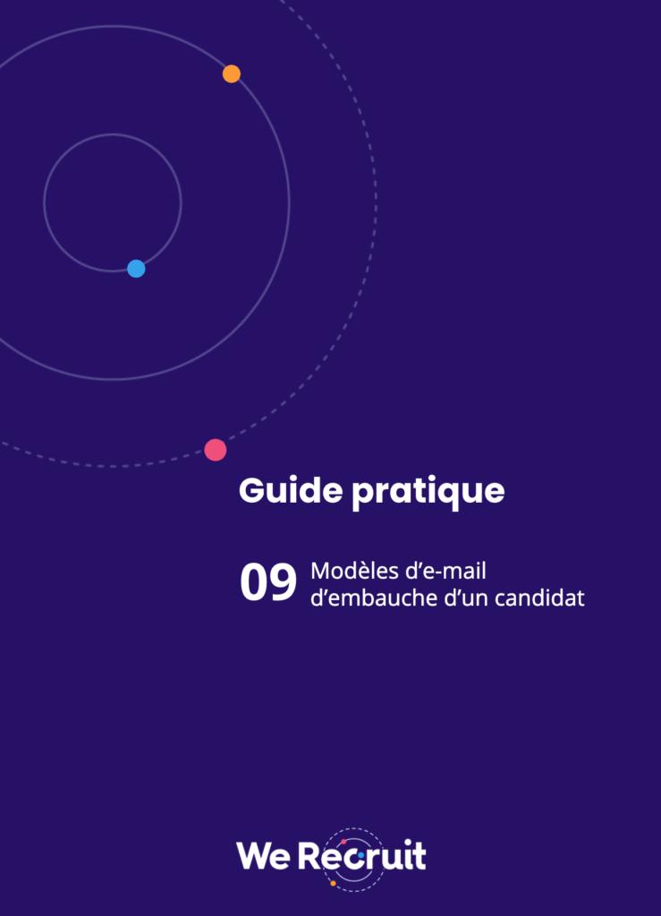 Couverture du guide pratique : modèles de mail d'embauche
