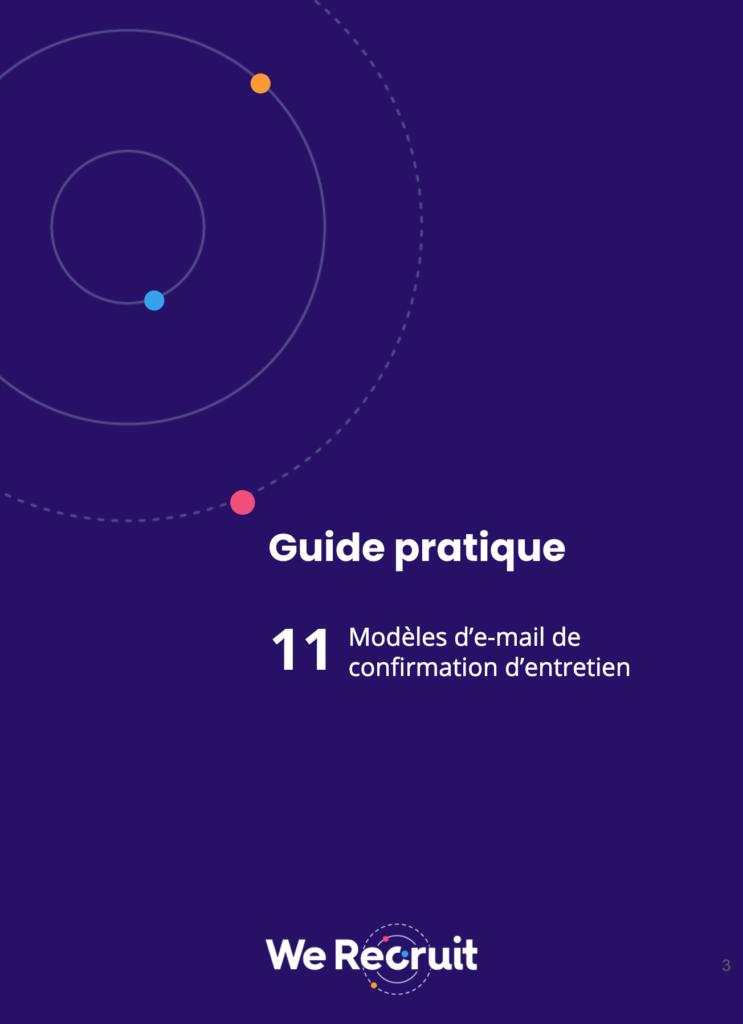 Couverture du guide pratique : modèles de mail d'entretien