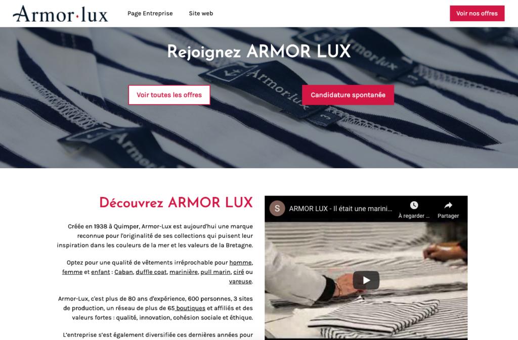 Le site carrière d'Armor Lux