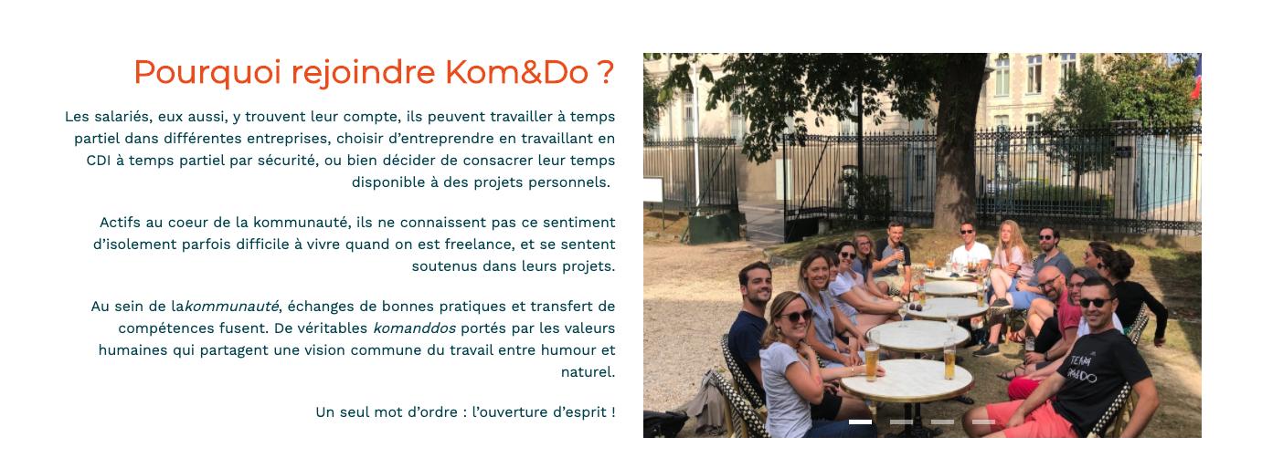 Le site carrière de Kom and Do