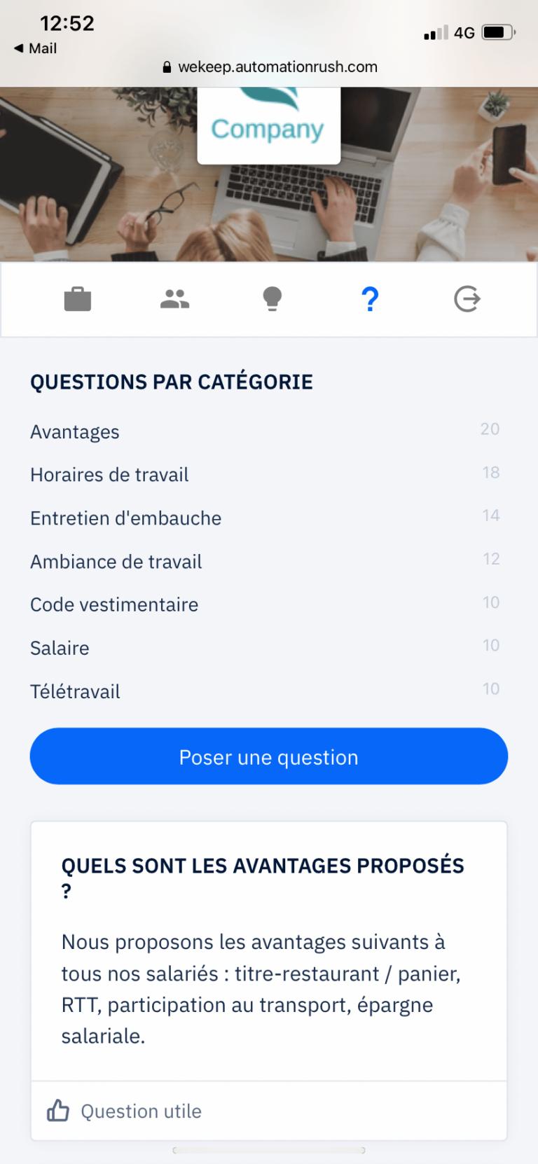 WeKeep - Foire aux questions